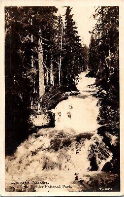 Washington Cascades (RPPC Washington Cascades, Rainier National Park c1927 Vintage Postcard N05)
