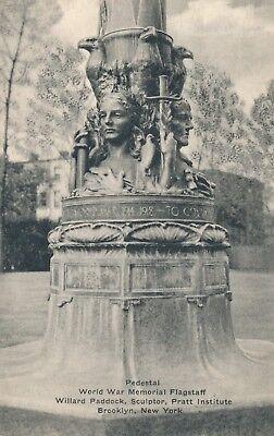(BROOKLYN NY – Pratt Institute World War Memorial Flagstaff Pedestal - 1944)