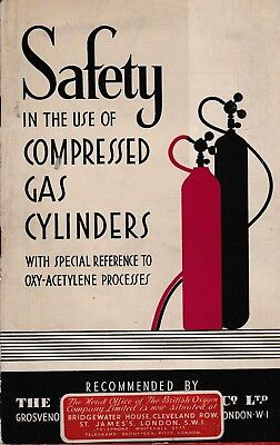 Used, SAFETY IN THE USE OF COMPRESSED GAS CYLINDERS.  OXY-ACETYLENE PROCESSES for sale  Shipping to South Africa