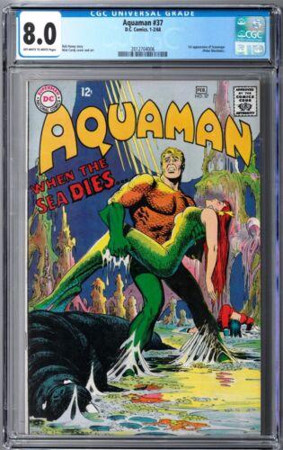 Aquaman #37 CGC 8.0 (Nov-Dec 1967, DC) Nick Cardy cover, 1st Scavenger app.