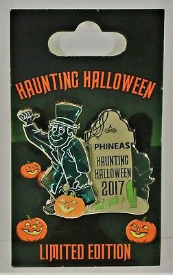 Disney Hitchhiking Ghost Haunted Mansion 2017 Halloween Phineas 3-D Pin LE - Disney Halloween Haunt 2017