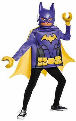 Batgirl Lego Klassisch Kinder Kostüm Lila & Gelb Tunika Kostüm Verkleidung ()