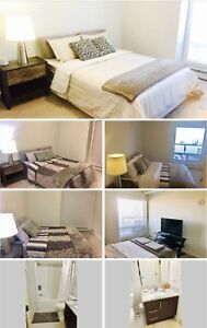 Furnished Master bedroom with private bathroom