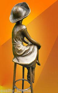 ART DECO, BRONZE At the Bar SIGNED D.H.Chiparus STATUE FIGURE HOT CAST FIGURINE