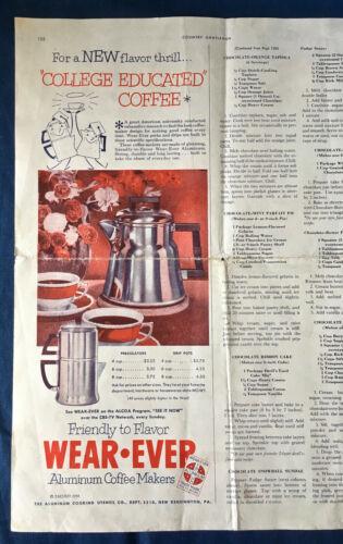 Vintage WEAR-EVER Tacuco Aluminum Coffee Maker 1952 Magazine Sales Advertisement