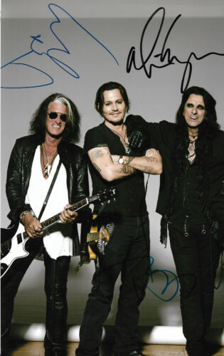 Hollywood Vampires (Johnny Depp, Cooper, Perry) Autogramme signed 20x30 cm Bild