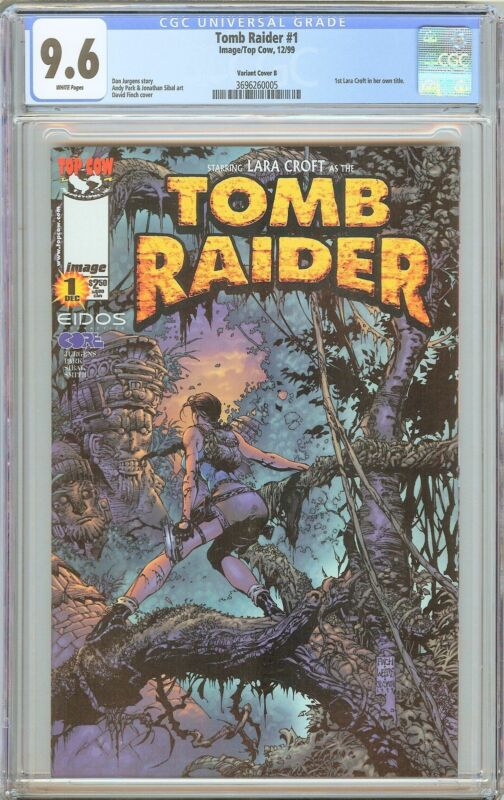 Tomb Raider #1 CGC 9.6 White Pages 3696260005 Variant 1st Lara Croft