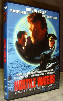 Hostile Waters (DVD, 2004) Mint•No Scratches•USA•Rutger Hauer•Max Von Sydow•Rare