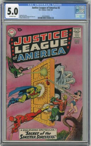1961 Justice League 2 CGC 5.0