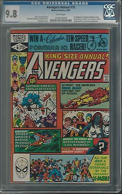 AVENGERS ANNUAL #10 CGC 9.8 1ST ROGUE/EARLY MYSTIQUE WHITE PAGES