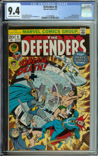 Defenders # 6 CGC 9.4 ow/wp silver surfer
