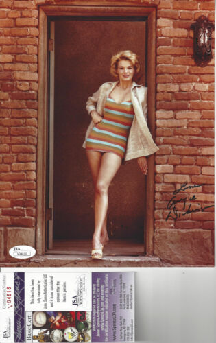 Actress Angie Dickinson  Autographed 8x10 color  photo JSA  Certified