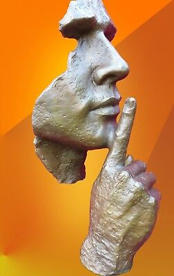 CONTEMPORARY ART BRONZE STATUE ABSTRACT HOT CAST MASK SCULPTURE MODERN ARTS