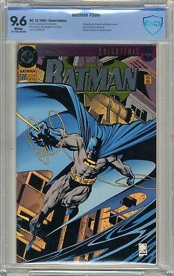 Batman   #500  CBCS  9.6  NM+  White pgs  10/93 1st App new Azrael-Batman - Batman White Costume