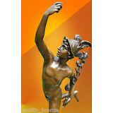 BRONZE STATUE MERCURY HERMES NUDE ART FIGURE JIMMY GREEK MYTHOLOGY HOT CAST