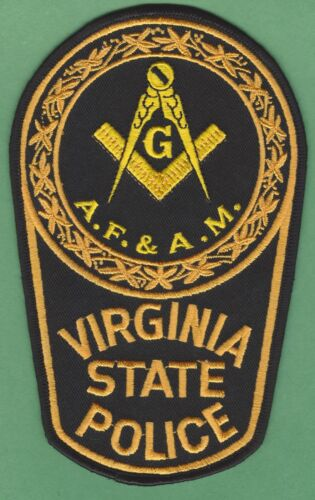 VIRGINIA STATE POLICE MASONIC LODGE SHOULDER PATCH