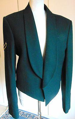 """Vintage Military dark green wool mess uniform suit chest 40"""" waist 36"""" Costello"""