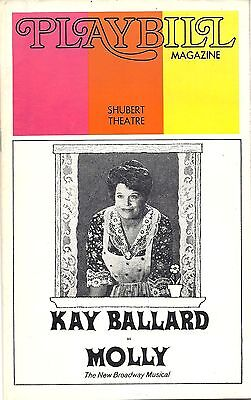 1973 Playbill 'Molly' with Kaye Ballard at The Shubert Theatre