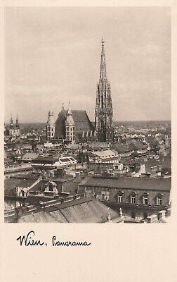 AK Wien, Panorama, über den Dächern mit Stephanskirche