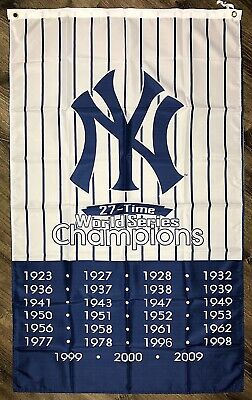 New York Yankees World Series Championship Flag 3x5 ft Vertical Sports Banner](Yankee Flag)