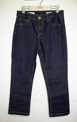 Jag Crop Jeans Size 10 Regular Fit High Rise Dark Wash Stretch Denim