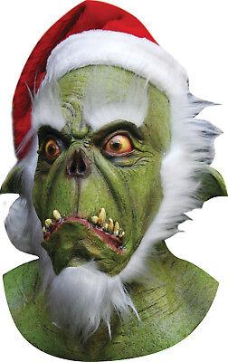 HALLOWEEN ADULT CHRISTMAS SANTA GRINCH HORROR  MASK PROP ](Grinch Halloween Mask)