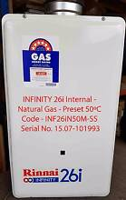 Shop Soiled Rinnai INFINITY 26i Internal - NG - 50°C Caringbah Sutherland Area Preview