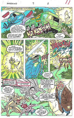 Clive Barker HYPERKIND #9 pg 8 original hand-painted color guide art 1995 signed