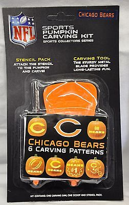 Chicago Bears Halloween Pumpkin Carving Kit NEW! Stencils for Jack-o-latern - Halloween Pumpkin Carvings Stencils