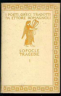 SOFOCLE TRAGEDIE 3 VOLUMI ZANICHELLI 1957 I POETI GRECI TRADOTTI