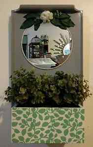 Wall mirror with artificial plants Mitchelton Brisbane North West Preview