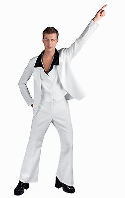 Weiß Anzug Herren 1970's Jahre John Travolta (John Travolta Kostüme)