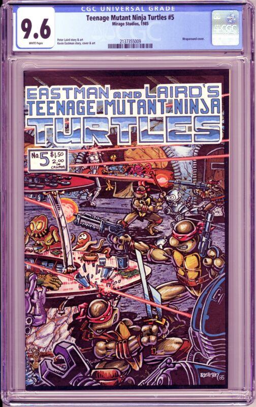 TEENAGE MUTANT NINJA TURTLES #5 (1985 Mirage) CGC 9.6 NM+ First Printing