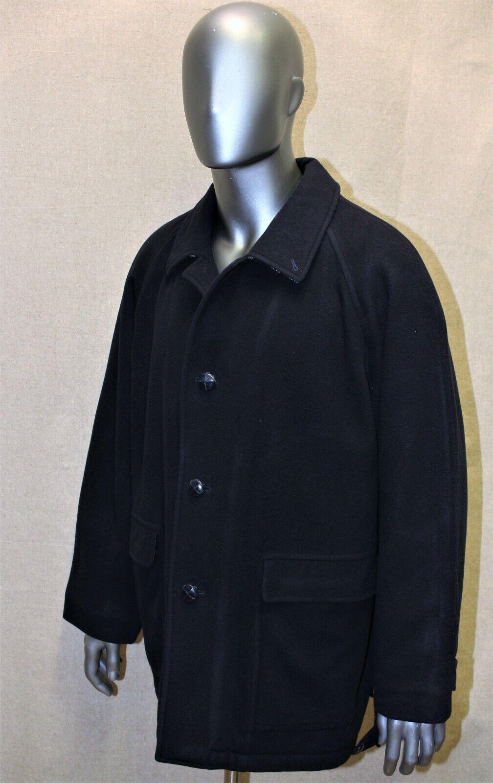 Manteau 3/4 raglan homme burberry's vintage 90's 100% laine bleu marine t 54