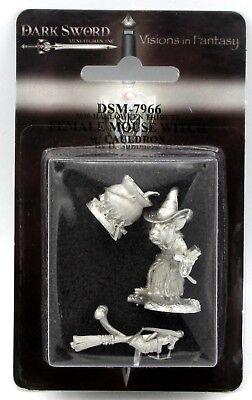 Dark Sword DSM-7966 Female Mouse Witch with Cauldron (Critter Kingdom) Halloween](Witches Cauldron Halloween Game)