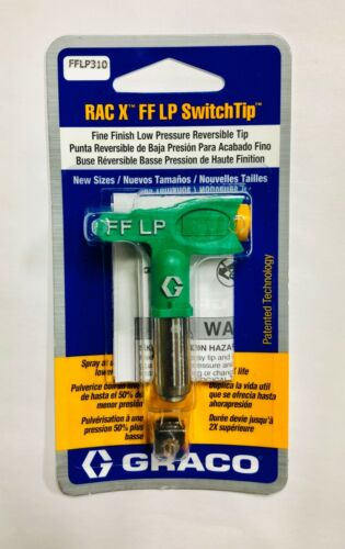 GRACO RAC X FFLP SwitchTip Fine Finish Low Pressure Spray Tip We Have All Sizes