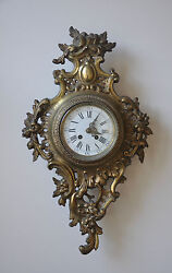 Antique French Wall Clock -  Movement Is Stamped A.D. Mougin Deux Medailles