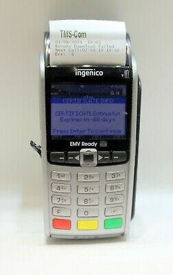 Ingenico Iwl255-01t1543a Wireless Credit Card Reader Terminal