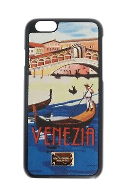 NEW DOLCE & GABBANA Phone Case Skin Leather Venezia Print Gold Logo iPhone6