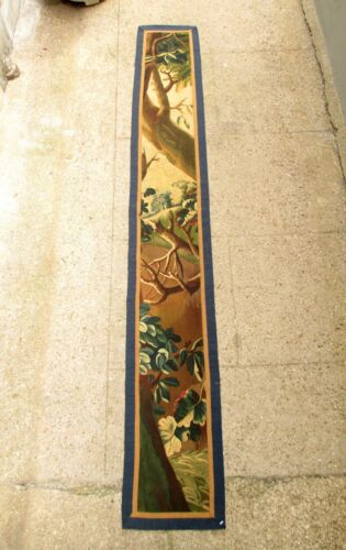 A Long Antique Vertical Tapestry with Very Fine Weave