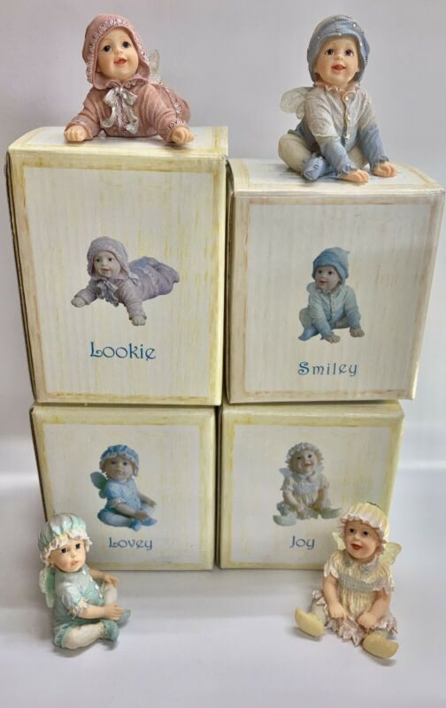 Boyds Collection Faerietots Set Of 4: Lovey, Joy, Lookie, Smiley. With Boxes.