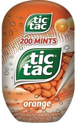 Orange Tic Tac (Tic Tac Mints, Orange Flavored 200 Mints 3.4 oz bottle, 4)