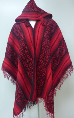 Shamans Hooded Poncho - Andean Mountain Textile