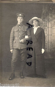 WW1 soldier Worcestershire Regiment with wife