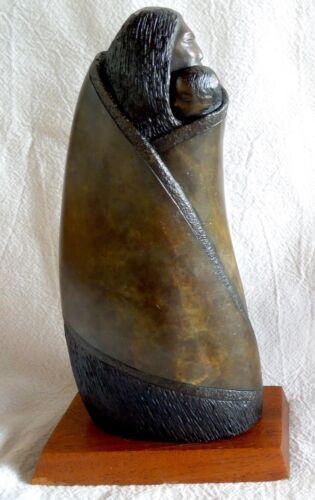 CLIFF FRAGUA Bronze Sculpture *Jemez Pueblo Native American* Mother & Child*