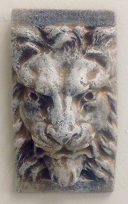 Antique Finish Lion Face Mask Wall Sculpture