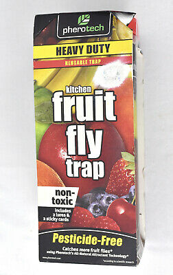 PheroTech Kitchen Fruit Fly Trap Reusable Non Toxic Safe Brand New ()