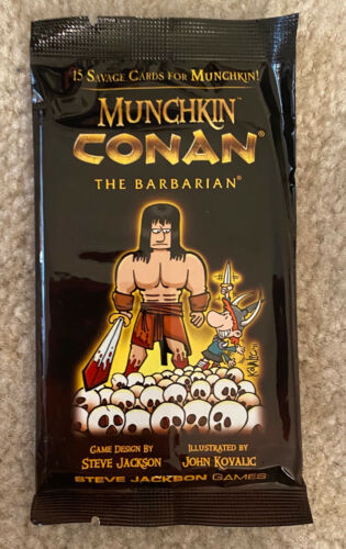 Munchkin Conan Barbarian Booster Pack 15 Cards Factory Sealed + Halloween Bonus