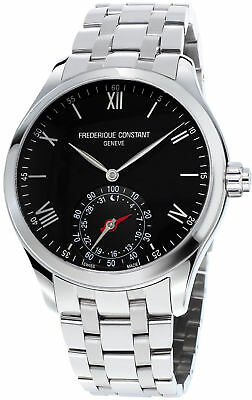 FREDERIQUE CONSTANT HOROLOGICAL SMARTWATCH BLACK DIAL MENS WATCH FC-285B5B6B NEW