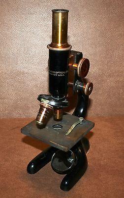 Vintage Bausch & Lomb Laboratory Microscope circa 1925, ptd 1915